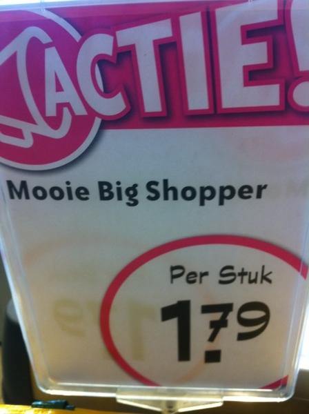 Zal ik een mooie big shopper kopen? Of niet?