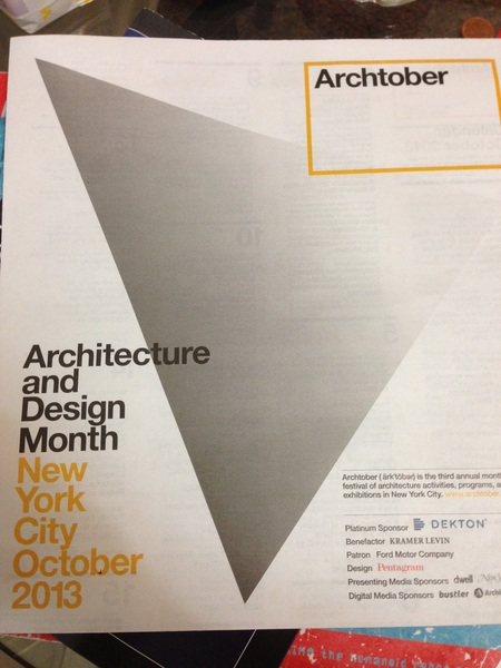 October is Architecture and design month in NY. Interesting events!