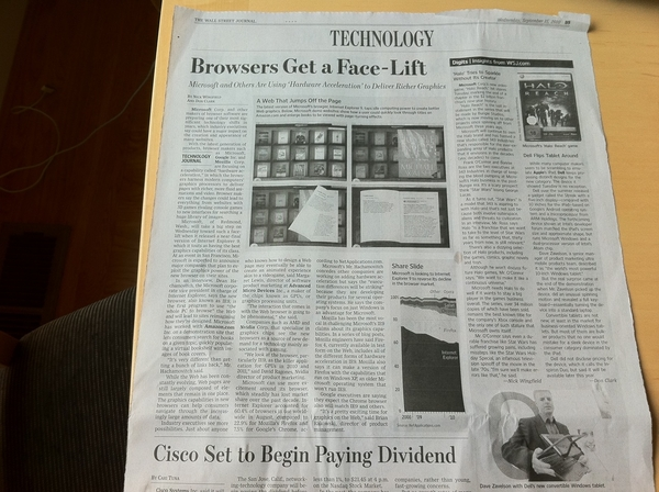 @WSJ Used My Photo of Flipping Tablet by Dell w/ Intel Atom Inside #IDF10