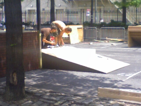Afropunk skate park preparation - BAM
