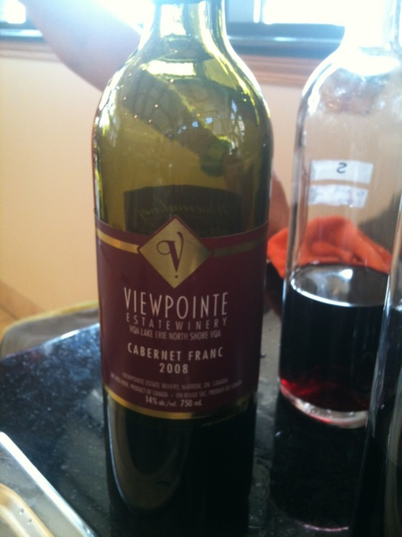 Viewpointe Cabernet Franc 08 burgundy label in Vintages now...