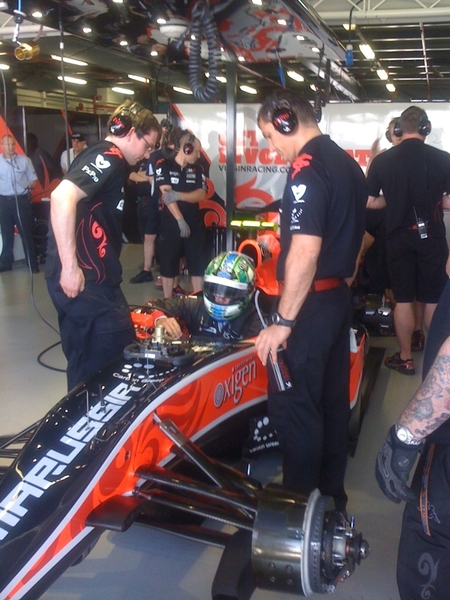 All systems go. Lucas getting in. #f1