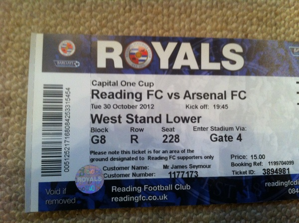Tickets arrived! Come on the royals!!