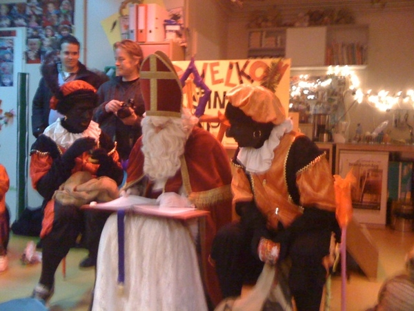 Sinterklaas at daughters playschool