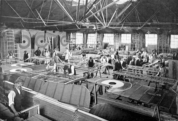 Aircraft Factory, England, 1917
