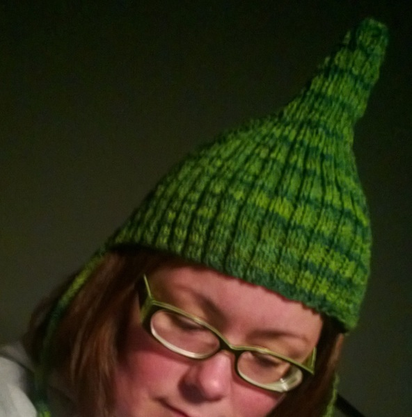 Ahahaha, this baby pixie hat is best!