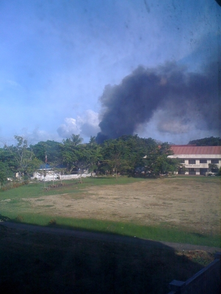 The explosion in Zamboanga City as seen from my office window. @ANCALERTS