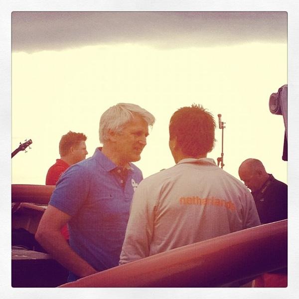 Groot applaus en bloed, zweet en tranen van de band voor PJ op de Holland in Weymouth! #socialsailing Held!