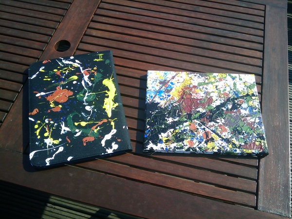 My result of a Jackson Pollock workshop