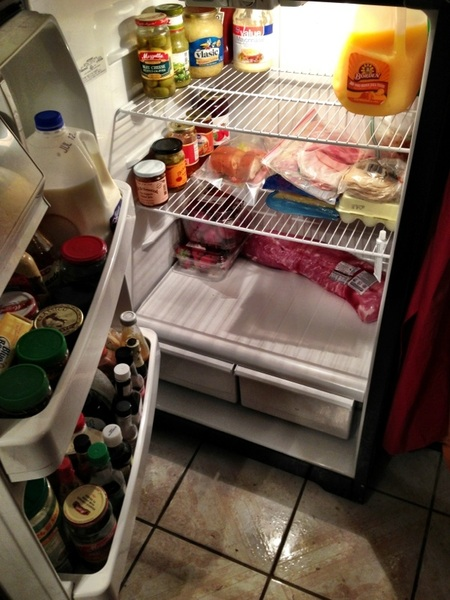 Spent an hour of my wild Friday night cleaning out our fridge. Now I'll sweep the floor and do a little dance.