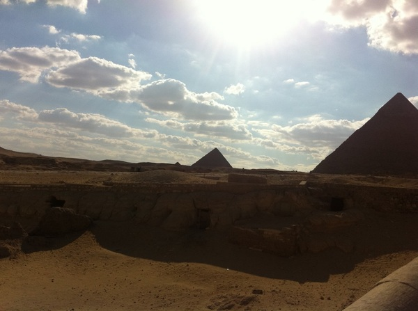 About to fly home. Thanks Egypt. I had a great time