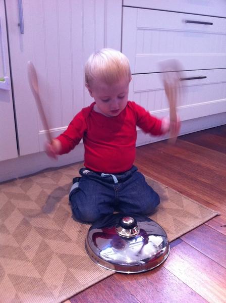 Fletcher of the day: little drummer boy.