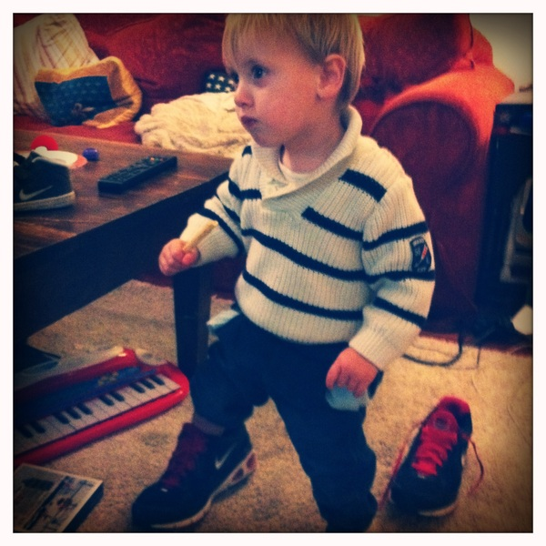 Fletcher of the day: big shoes