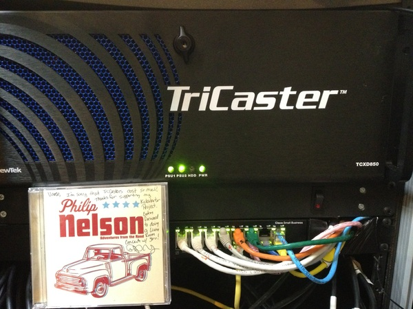 Listening to @PhilipNelson in studio while configuring Tricaster 850! This one works 100% and is FAST!