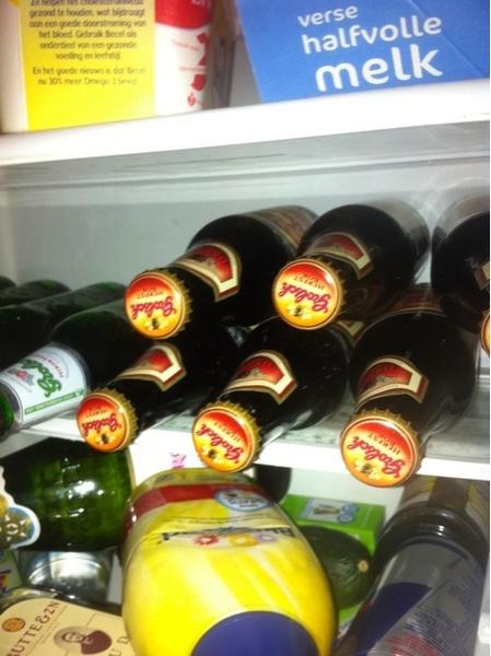 Joepie weer bruine flesje in de koelkast #Grolsch