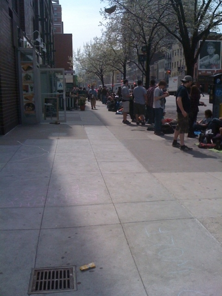 Doctor Who season premiere line up - it goes all around the block. #dedicated