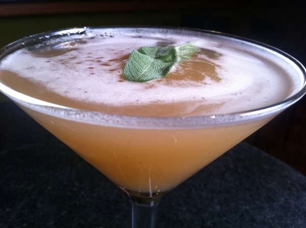 New drink list @ Frontera: El Elegante: Northsore #6 Gin, Rishi emerald lily green tea, honey, lime, fresh sage.