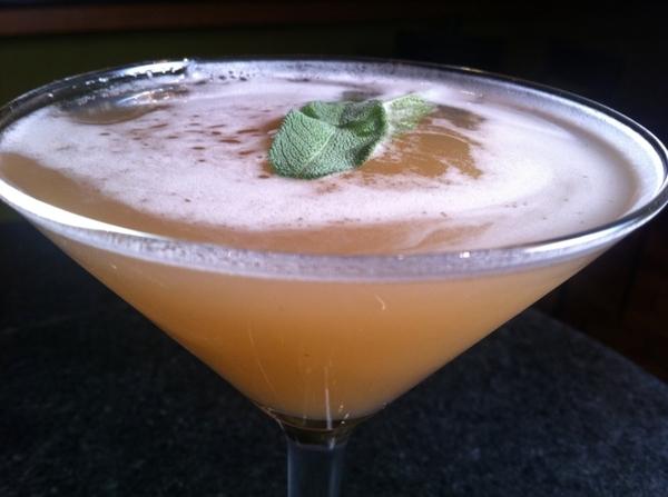 New drink list @ Frontera: El Elegante: Northsore #6 Gin, Rishi emerald lily green tea, honey, lime, fresh sage.