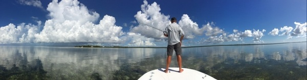 Tyrone took this pic yesterday when we were out Bonefishing here in Abaco. #Bahamas