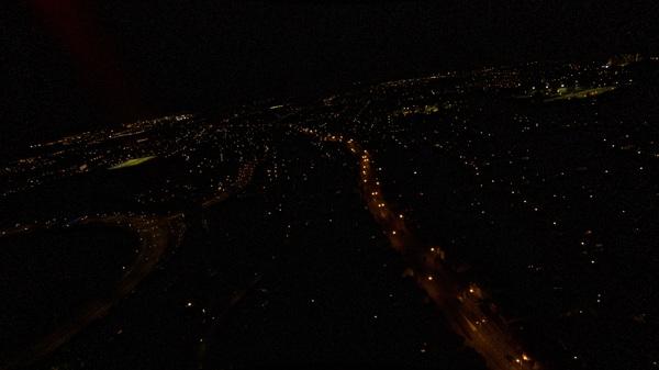 Nachtfoto van Bergen op Zoom #buienradar