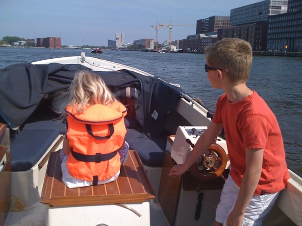 Kids in charge on our boat