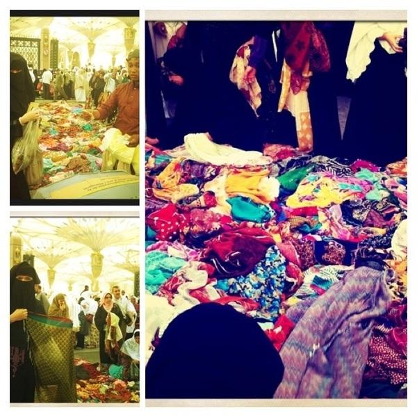 Shawls ♥♥ in front of masjid nabawi @RNadiaSabrina