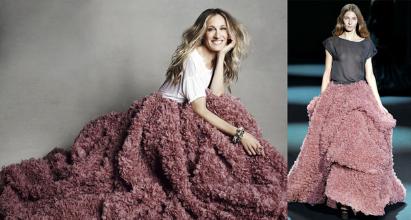Sarah Jessica Parker wears Christian Siriano Fall 2011 for Marie Claire magazine. More later. Congrats, Christian!