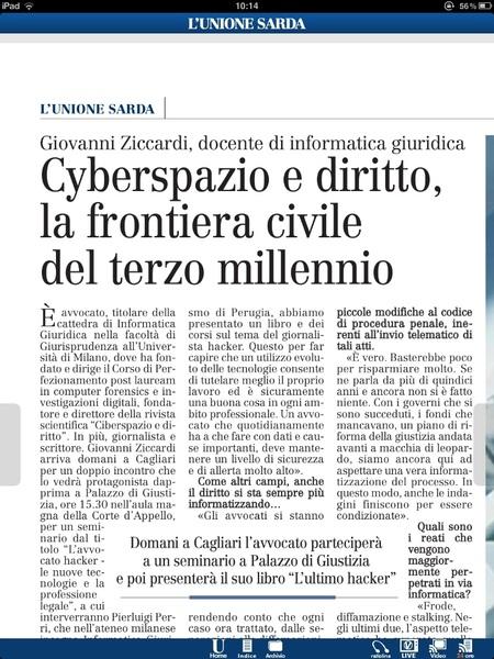 @gziccardi @pierluigiperri @gbgallus sull'unione di oggi per il convegno di domani... ah domani, Cagliari, dalle 15,00 tribunale+libreria!