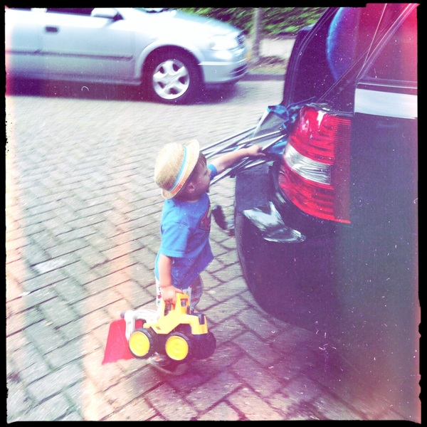 Fletcher of the day: Packing the car