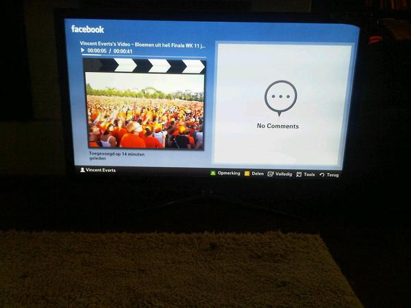 Geuploade Video's en foto's op facebook werken op #samsung7700
