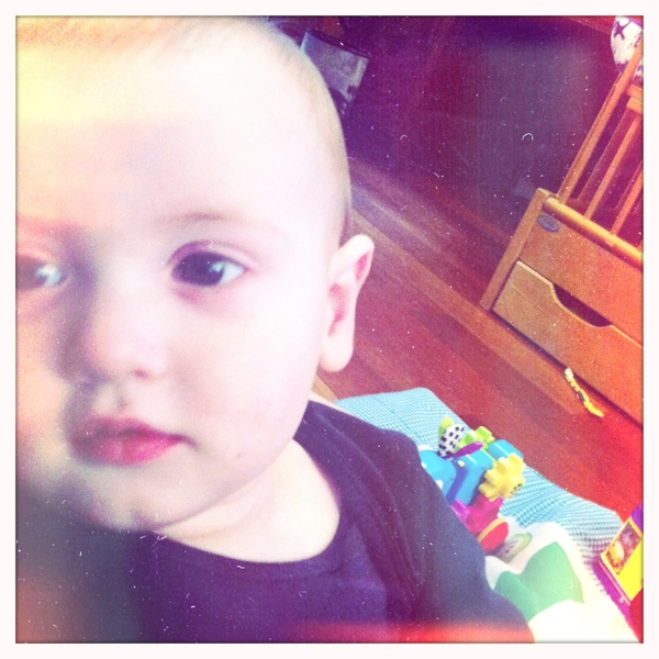 Fletcher of the day: my sick baby.