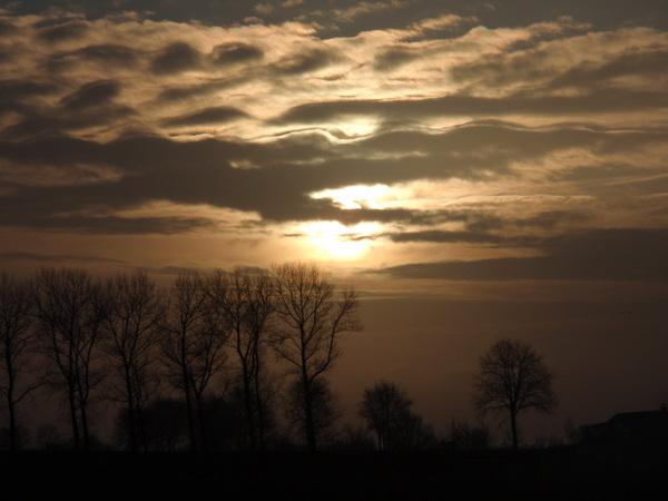 Zonsopkomst Oud-Vossemeer #buienradar