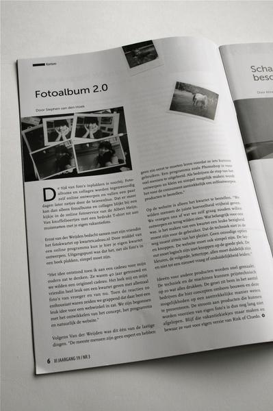 """""""Foto-album 2.0"""" - interview met Ernst over KwartetCadeau in tijdschrift Xi"""