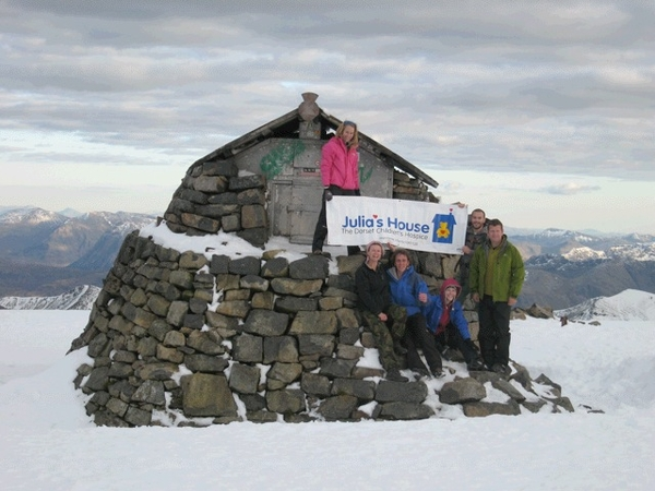The Bull Hotel team at the old observatory Ben Nevis