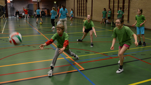 De leerlingen uit #groep7 van de basisscholen uit #rosmalen hebben vandaag #volleybal #toernooi zoals hier @bstven