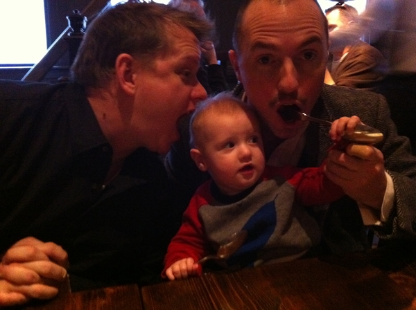 Fletcher of the day: lunch at the wayfare tavern with uncle Riley.