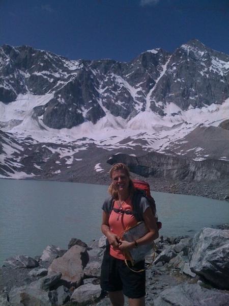 At Glacier Lake d' Arsine