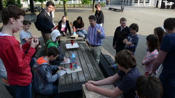 Vandaag was er de #raket #wedstrijd voor #talenttraject #vwo #b1t @rodenborch #rosmalen