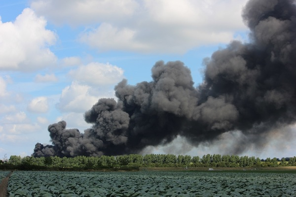 Grote brand Sortiva Middenmeer