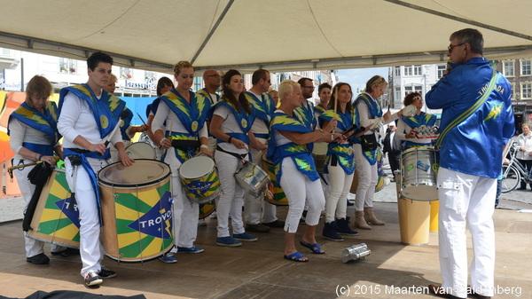 In @shertogenbosch was vandaag het eerste Bossche #Zomercarnaval met oa #Trovoada