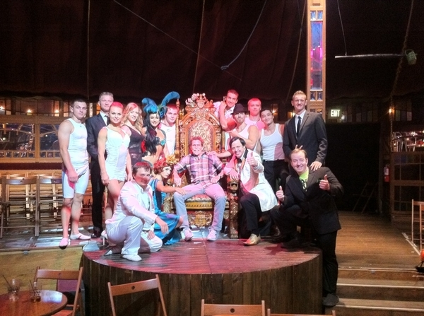 Absinthe in Spiegeltent @ Caesars: I got to take this cool pic with the cast after the show!