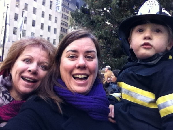 Fletcher of the day: Aunt Connie and Mama with the Fireman
