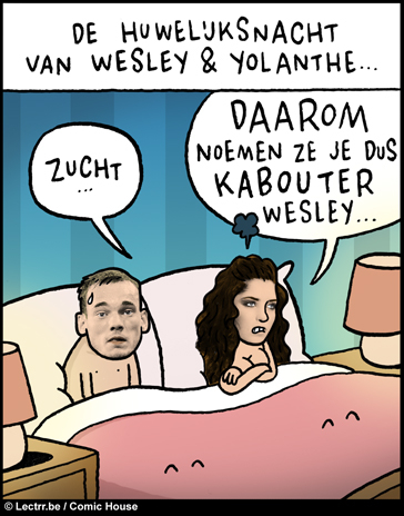 Huwelijksnacht Wesley en Yolanthe
