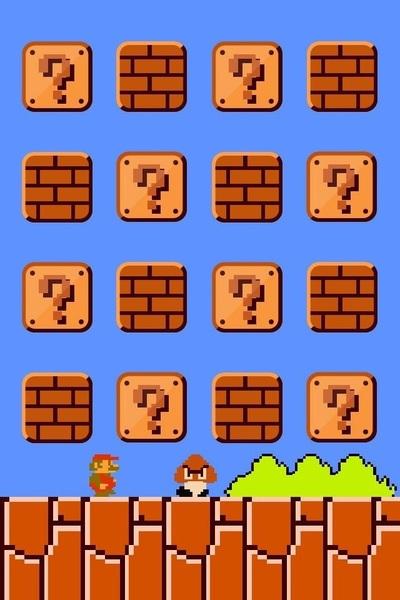 Dit is op zich best wel een leuk achtergrondje voor je iPhone. #iPhone #wallpaper #mario [image]
