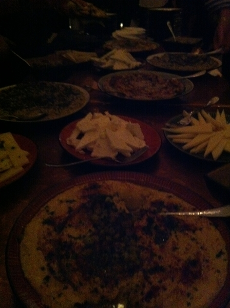 Taxim party:,beautiful meze table for our staff