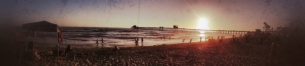 Panorama of Oceanside Beach- July 19th, 2012. Taken with @SonyElectronics #Cybershot @VisitCA