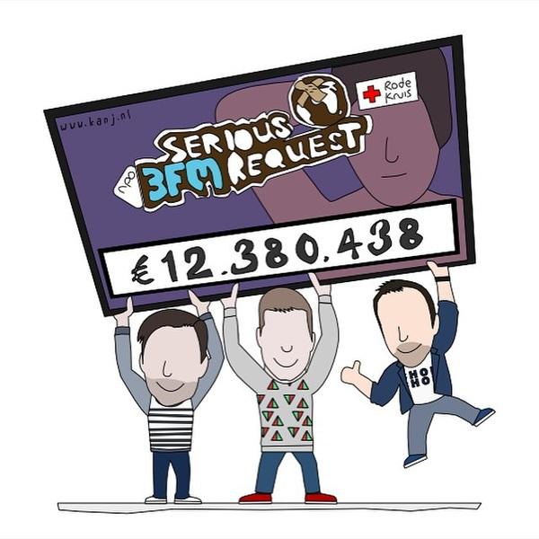 Wow, wow, wów! €12.380.438! Dankjewel!! #3FM #SR14 (credits: @KANj_nl)