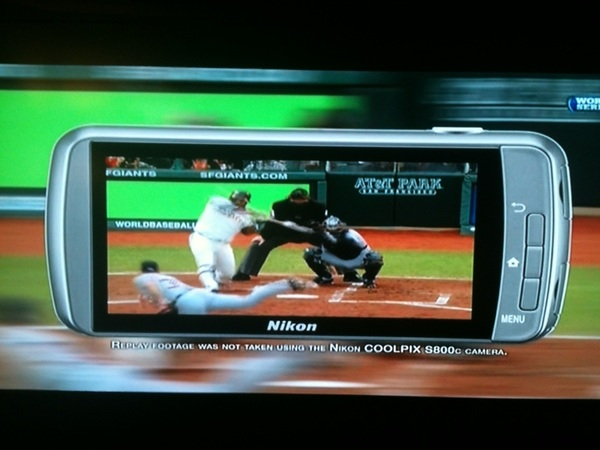 The @SFGiants #Panda @KFP48 Nikon Replay @NikonUSA at @ATT Park on @MLBONFOX. #postseason