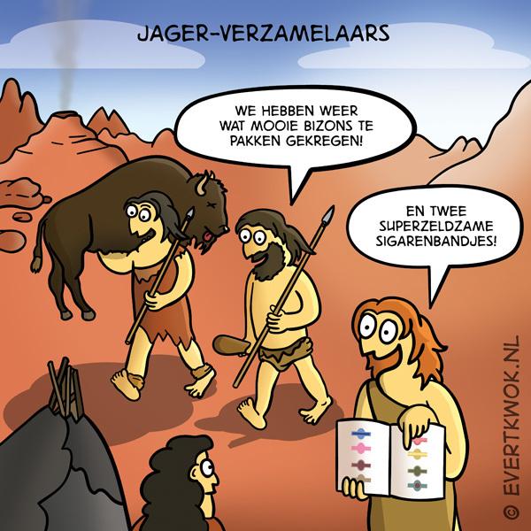 Jager-verzamelaars. #cartoon