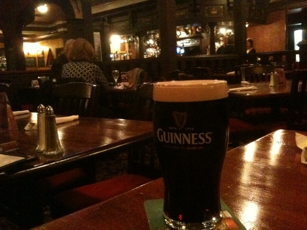 Here's the Guinness...